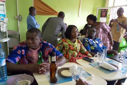 7 mai 2019 - Présidente du RC Cotonou Rive Gauche et Président du RC Abomey Calavi
