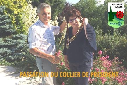 Passation du collier entre René et Danielle