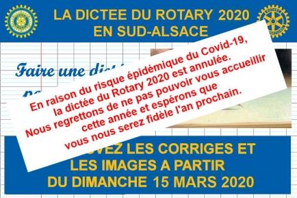Dictée du Rotary 2020